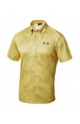 YELLOW GOLF BARK WIND TRACKS SHIRT