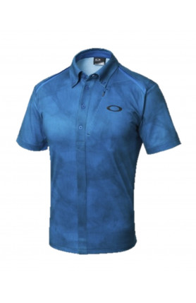 BLUE GOLF BARK WIND TRACKS SHIRT