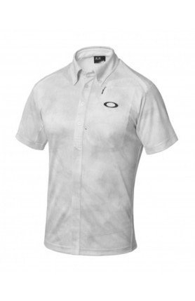 WHITE GOLF BARK WIND TRACKS SHIRT