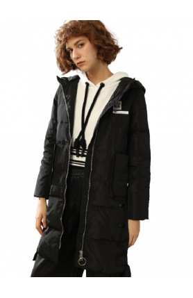 LAIDES POLYESTER DOWN PARKA 5 DEGREES AND ABOVE - BLACK