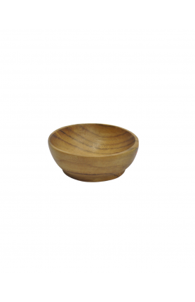 NATURAL TEAK WOOD BOWL 7CM