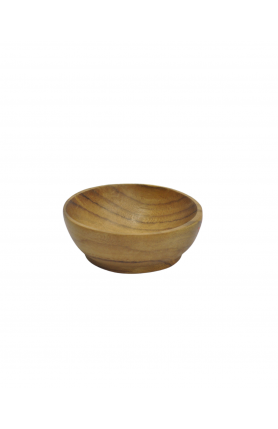 NATURAL TEAK WOOD BOWL 8CM