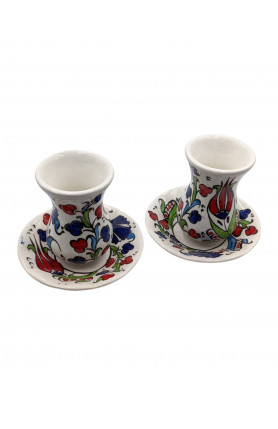 TURKISH CERAMIC TEA CUP SET