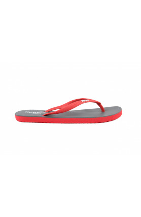 FIPPER SLIM SLIPPERS IN GREY/RED