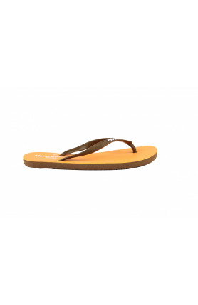 FIPPER SLIM SLIPPERS IN YELLOW/BROWN