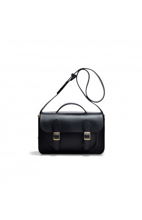 AVERY BLACK SATCHEL BAG