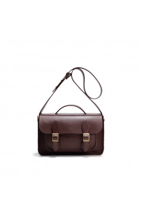 AVERY CHESTNUT BROWN SATCHEL BAG