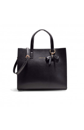 DALLAS JET BLACK TOP HANDLE TOTE
