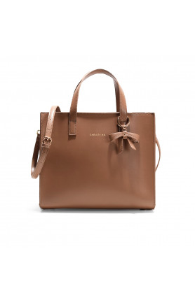 DALLAS ESPRESSO BROWN TOP HANDLE TOTE