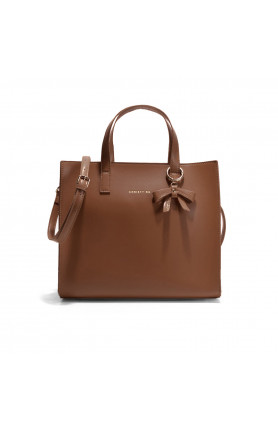 DALLAS TAN TOP HANDLE TOTE