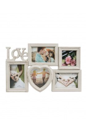 5-IN-1 WOOD LOVE PHOTO FRAME