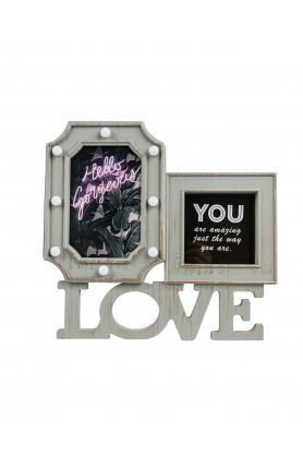 2-IN-1 LOVE PHOTO LED FRAME