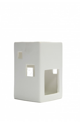 WHITE CANDLE DIFFUSER ESSENTIAL OIL BURNER