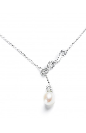 Infinity Pear Necklace