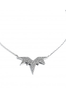 Embellished Wings Necklace