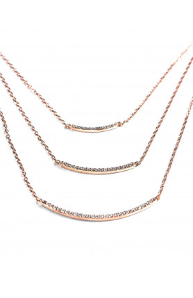Three-Tiered Embellished Necklace