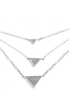 Three-Tiered Triangle Necklace