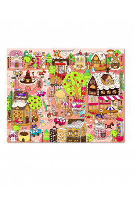 JUNIOR 80PCS PUZZLE - CANDY VILLAGE