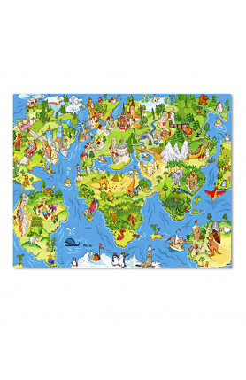 JUNIOR 80PCS PUZZLE - ALL AROUND THE WORLD