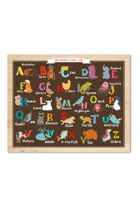 JUNIOR 80PCS PUZZLE - ALPHABET & ANIMALS