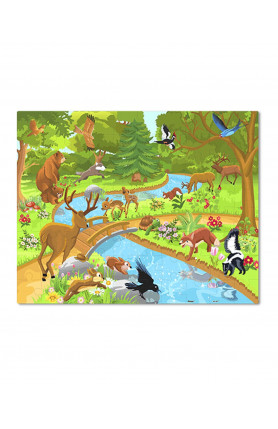 JUNIOR 80PCS PUZZLE - ANIMALS IN THE FOREST