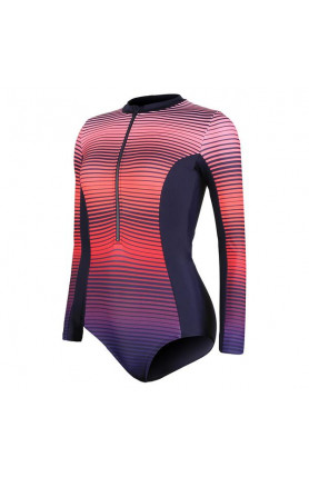 SPEEDO PLACEMENT LONG SLEEVE WRAP BACK 1 PIECE