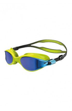 SPEEDO V-CLASS VUE MIRROR ASIA FIT GOGGLES - LIME/BLUE