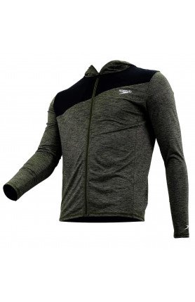 SPEEDO CASUAL MALE CARDIGAN WITH ZIPPER L/S - OXID GREY..