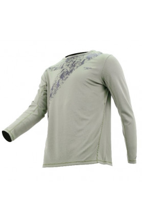 SPEEDO CASUAL MALE WATER TOP L/S - HEDGE GROW/BLACK