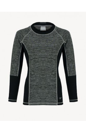 SPEEDO CASUAL FEMALE RASHGUARD L/S - OXID GREY/BLACK