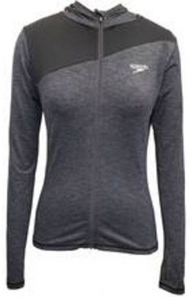 SPEEDO CASUAL FEMALE HOODIE L/S-OXID GREY/BLACK