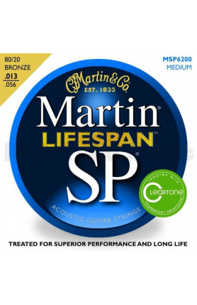 MARTIN MSP6200  SP LIFESPAN ACOUSTIC GUITAR STRINGS, ME..