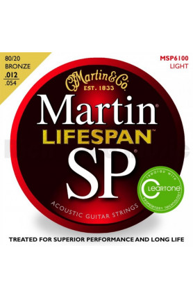 MARTIN MSP6100 SP LIFESPAN ACOUSTIC GUITAR STRINGS, LIG..