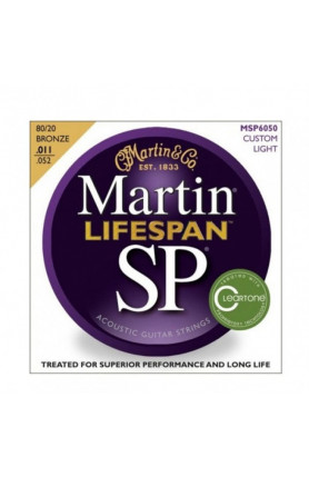 MARTIN MSP6050 LIFESPAN ACOUSTIC GUITAR STRINGS, CUSTOM..