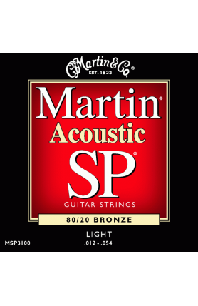 MARTIN MSPLUS3100 ACOUSTIC GUITAR STRINGS BRONZE,012-05..