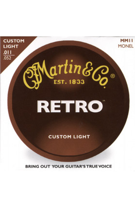 MARTIN MM11 RETRO MONEL ACOUSTIC GUITAR STRINGS, 11-52 ..