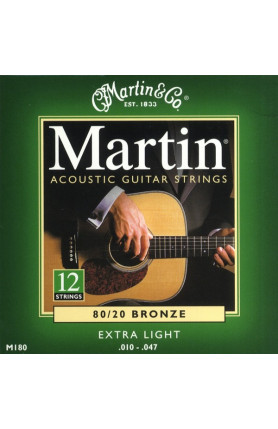 MARTIN M180 12 STRING, EXTRA LIGHT, 80/20  BRONZE , 010..