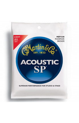 MARTIN MSP4100 ACOUSTIC GUITAR STRINGS PHOSPHOR, LIGHT,..