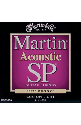 MARTIN MSP3050 BRONZE ACOUSTIC GUITAR STRINGS, CUSTOM L..