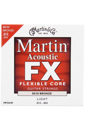 MARTIN MFX640 FX ACOUSTIC GUITAR STRINGS FLEXIBLE CORE ..