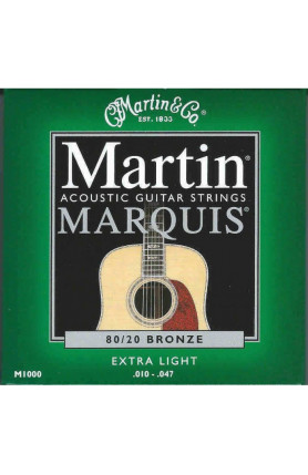MARTIN M1000 MARQUIS ACOUSTIC GUITAR STRINGS BRONZE, 01..