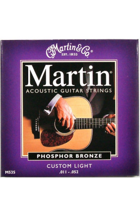 MARTIN M535 ACOUSTIC GUITAR STRINGS 92/8 PHOSPHOR,011-0..