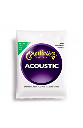 MARTIN M530 ACOUSTIC GUITAR STRINGS 92/8  PHOSPHOR, 010..