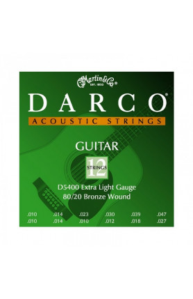 DARCO D5400 12 STRINGS ACO GUITARS BRONZE ,EXT. LIGHT 0..