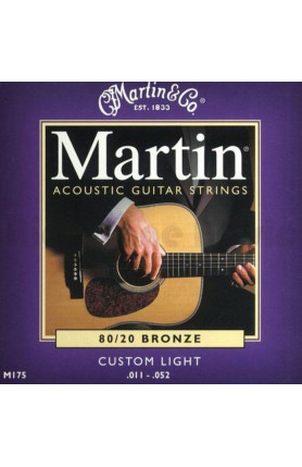 MARTIN M175 ACOUSTIC GUITAR STRINGS STD BRONZE, 80/20 B..