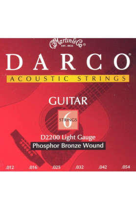 DARCO D2200 ACOUSTIC GUITAR STRINGS PHOSPHOR BRONZE ACO..